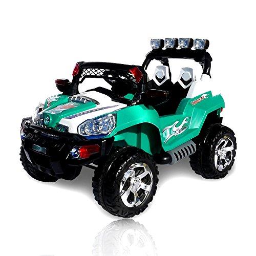 *Elektro Kinderauto Jeep 801 mit 2 x 25 Watt Motor Elektro Kinderauto Kinderfahrzeug in mehreren Farben (Petrol)*