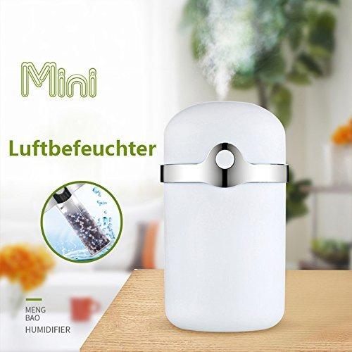 WKLY Tragbare Luftbefeuchter babyzimmer im schlafzimmer 180ml Auto Luftreiniger ( Weiß )