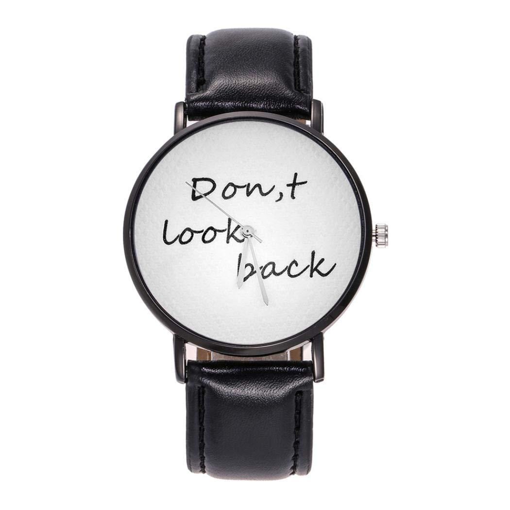 Unisex Watches 2018 On Sale, Women's Fashion Casual Leather Strap Analog Quartz Round Watch