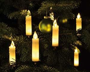 15 led echtwachs wachs lichterkette beleuchtung kerze kerzen weihnachtsbaum. Black Bedroom Furniture Sets. Home Design Ideas