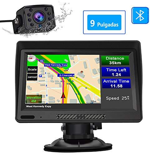 AWESAFE Navegador GPS para Camiones y Coches con Bluetooth y Cámara Trasera...