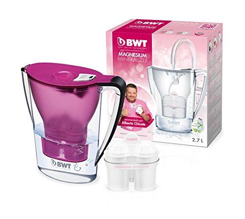 BWT Penguin Electrónica – Jarra filtradora de agua hecha de plástico libre de BPA + filtro de jarra de agua BWT patentado que mineraliza el agua con magnesio y formulado específicamente para el mercado Español. Capacidad 2,7 L