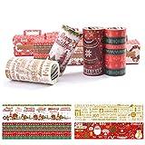 Holiday Christmas Washi tape, Babbo Natale, pupazzo di neve, corona decorativa nastro mascheratura per scrapbooking, fai da te e regali ecc. #A