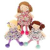Hoolaroo Personalised Embroidered Girls Rag Doll Pink 40cm Pink