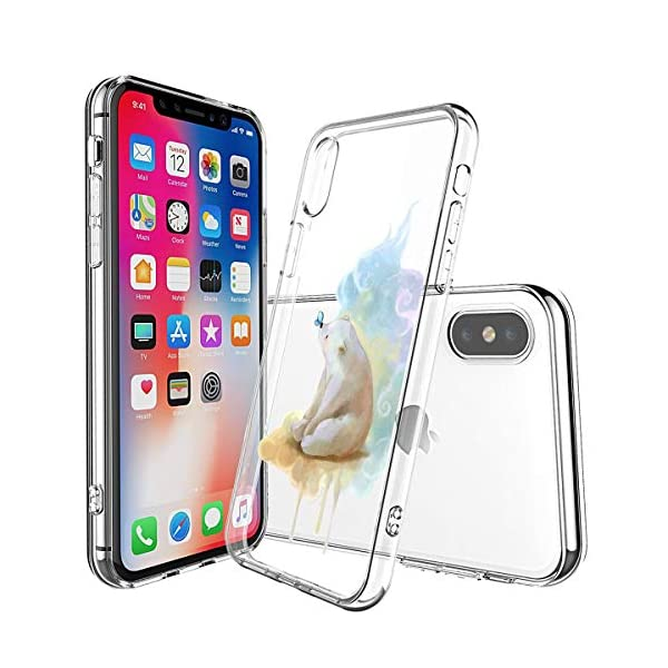 Oihxse Compatible with iPhone XR 6.1'' Case Cover Crystal Clear Ultra Slim Lightweight Soft TPU Gel Bumper, Chic Fashion Pattern Design Transparent [Original Beauty] Shockproof Skin, White Bear Oihxse ✨【SLIM FIT】ONLY compatible with iPhone XR without bubbles, bubbles smudges, slippy and clinging, which provide a great hand feel & comfortable grip, easy put in and take off from pockets. ✨【CRYSTAL CLEAR】Cute and stylish pattern prints on the crystal transparent slim IPhone XR case, not only shows off the original beauty but adds more chic, fashion and elegant sense, makes you stand out from crowd and eye-catching. ✨【PREMIUM MATERIAL】Made from nontoxic and tasteless flexible TPU material, non fade and peel off. It can resist Iphone XR bumps, drops, scratches, impacts, shocks and fingerprint. 4