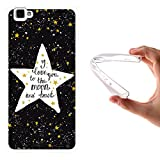 WoowCase Cubot X15 Hülle, Handyhülle Silikon für [ Cubot X15 ] Star Satz - I Love You to The Moon and Back Handytasche Handy Cover Case Schutzhülle Flexible TPU - Transparent
