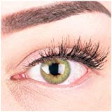 """Sehr stark deckende und natürliche grüne Kontaktlinsen SILIKON COMFORT NEUHEIT farbig """"Rose Green"""" + Behälter von GLAMLENS - 1 Paar (2 Stück) - DIA 14.00 - mit Stärke -5.00 Dioptrien"""
