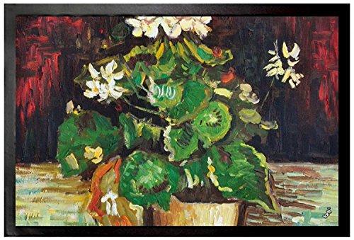Preisvergleich Produktbild 1art1 97218 Vincent Van Gogh - Geranie In Einem Blumentopf, 1886 Fußmatte Türmatte 60 x 40 cm