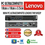 Pc Reconditionné LENOVO M92P Tiny Intel Core I5 3470T 2,90 GHZ/8GB/240GB SSD/Win 10 Pro (Reconditionné)