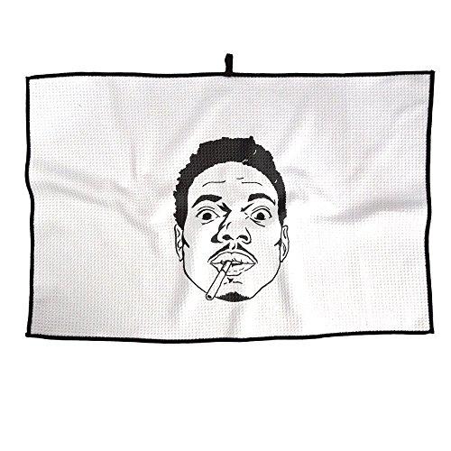 Vdb One Size : Golf Towel Singer Chance The Rapper Portrait