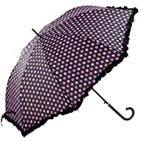 Spots & Frills Walking Length Umbrella - Black
