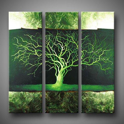 jiuzhuo-arbol-de-hoja-perenne-3-panel-lienzo-art-set