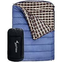 Sportneer -18C / 0F bolsa de dormir, 239x 158 CM BONUS saco de compresión para acampar senderismo