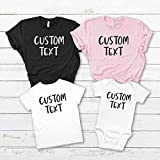 Matching Custom Family Shirts/Custom T shirt with any text/Custom T-shirt/Personalised Family T-shirt/Personalized Shirt