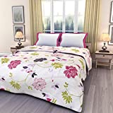 eCraftIndia Floral Double Bed Reversible...
