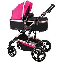 KA-ALTHEA- Puede Mentir Puede Estar Acostado Ligero Carros De Bebé Plegables Scooter niño monopatín bicicleta triciclo Walker ( Color : Rosa Roja )