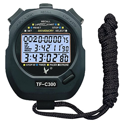 Calesi three-row cronometro 300 memorie lap professionale portatile lcd digitale sport
