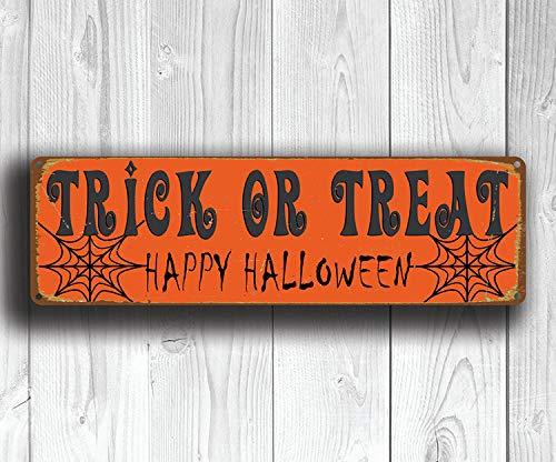 eat Schild Halloween Zeichen Vintage Stil Halloween Zeichen Halloween Dekoration Halloween Party Schild ()