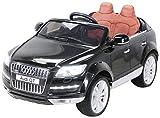 Actionbikes Motors Kinder Elektro Auto Lizenzierter Audi Q7 Lizenziert 2 x 45 Watt Motor Original Kinderelektroauto Kinderfahrzeug (Schwarz)