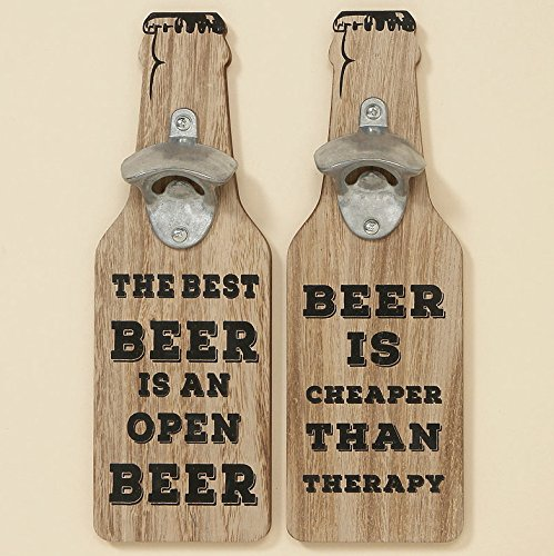 "Flaschenöffner für die Wand 30 x 10 cm ""THE BEST BEER IS AN OPEN BEER"" - 2"