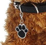 Yistu Haustier Schmuck Katze Pawprint Anhänger Halskette Hundehalsband Pflege Zubehör Produkte Lächeln,schwarz