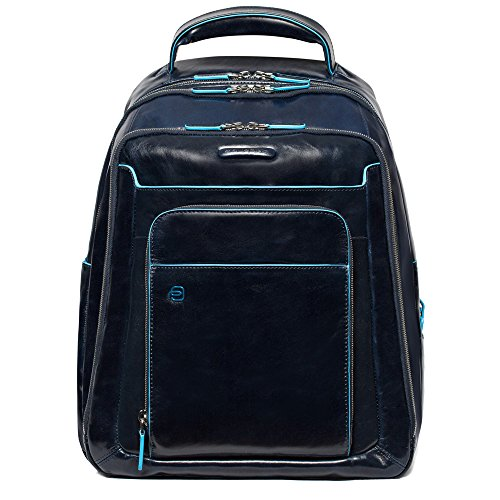 Piquadro CA1813B2 Zaino, Collezione Blu Square, Blu