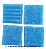 efco MosaixPro-Bloques de Vidrio, 20 x 20 mm, 200 G~72 pcs Colour Azul