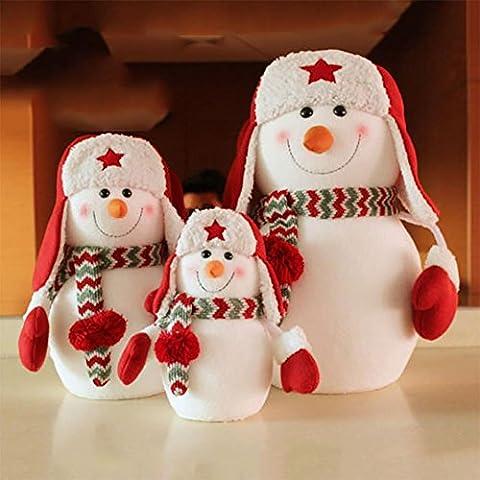 YUYU Regalos de adorno de Navidad muñeco de nieve muñeco para ornamentos de los niños (3)