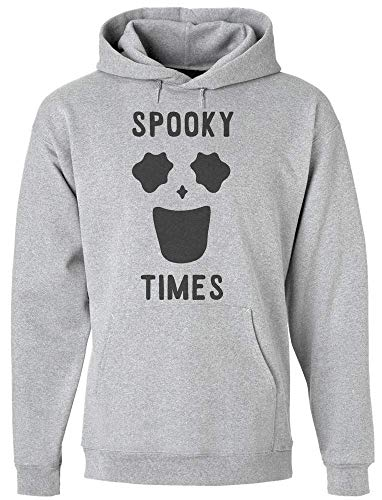 Spooky Times Funny Minimal Ghost Face Kapuzenpulli für Herren Medium