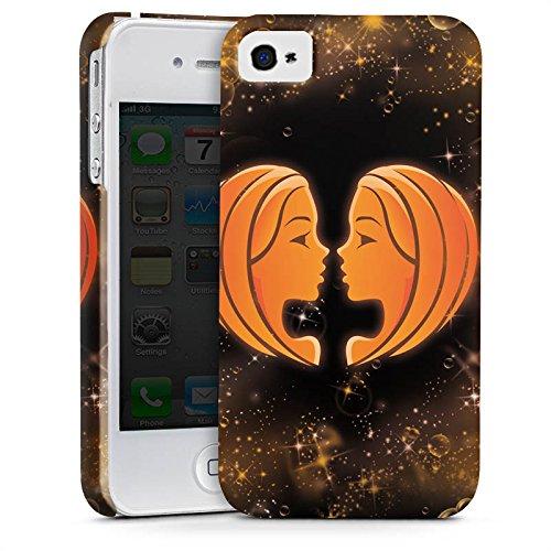 Apple iPhone X Silikon Hülle Case Schutzhülle Sternzeichen Zwillinge The Twins Premium Case glänzend