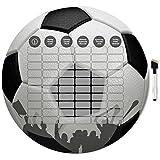Stundenplan mit Folienschreiber, abwischbar, Motiv Fussball