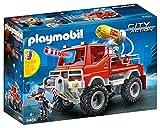 Playmobil City Action 9466 Camion Spara Acqua dei Vigili del Fuoco con Luci e Suoni, dai 5 Anni