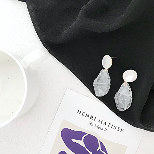 Kristall Mode Temperament Unregelmäßige Blutungen eis Ohr schrauben Mädchen hand made design Ohrringe Ohrclip E, normalen Ohr schrauben Eins-zu ()