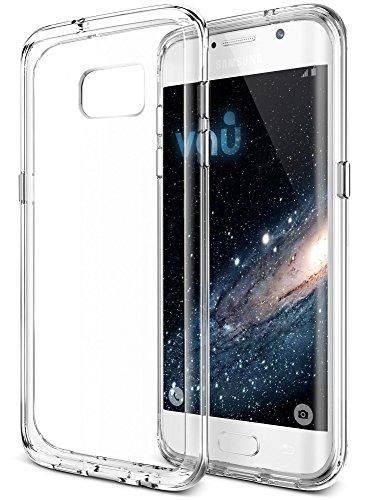 Preisvergleich Produktbild vau Samsung Galaxy S7 Edge Ultra-Hybrid Case   Transparente Schutz-Hülle für Galaxy S7 Edge   Clear Handy-Hülle für Samsung Smartphone   Smartphone Case hergestellt aus hochwertigem TPU & Polycarbonat