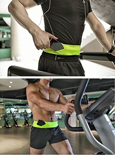 xcellent-global-runner-waist-pack-and-fitness-belt-lycra-elastic-personal-items-keeper-neon-yellow-m