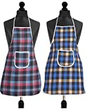 Best Aprons - Yellow Weaves™ Check Design Waterproof Cotton Kitchen Aprons Review