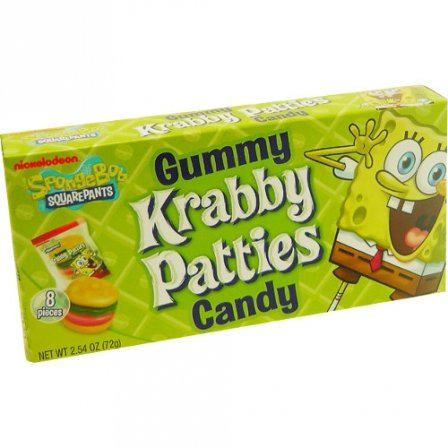 Image of Spongebob Squarepants Giant Krabby Patties 2.54 OZ (73g)