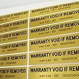 StickersLab - 100 Etichette adesive sigilli di garanzia e sicurezza con ID seriale