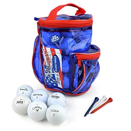 American lake confezione da 30 palline da golf con bersagli