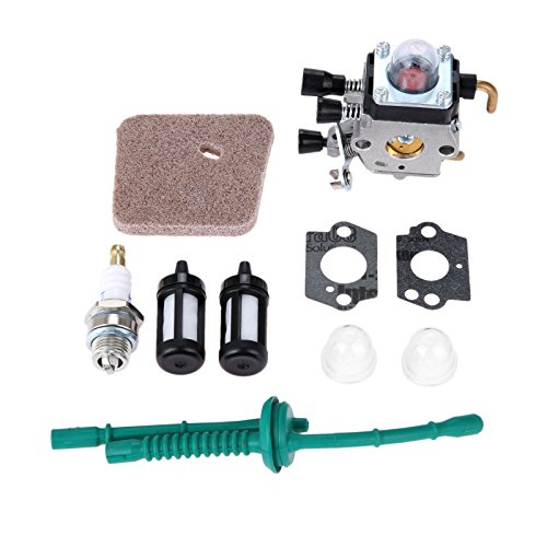 Hicello Vergaser Luftfilter Kraftstoffleitung Kit für STIHL FS38 FS45 FS55 String Trimmer Rasenmäher