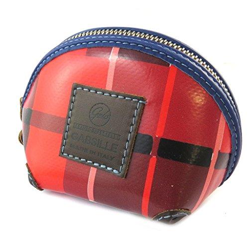 Toilet kit 'Gabs'rosso (scozzese)- 15x10x10 cm.