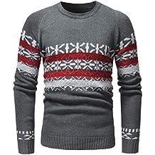 Liquidación Suéter de impresión de la Manera de los Hombres de Yvesland Otoño Invierno Casual Pullover