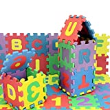 ZMH 15x15cm/6in Baby Play Mat 36 PCS/Set Soft Mousse Puzzle Lettres numéro Mat Eva Enfants Jouant Tapis Split Baby conjointe pour Les Enfants Mat intérieur extérieur