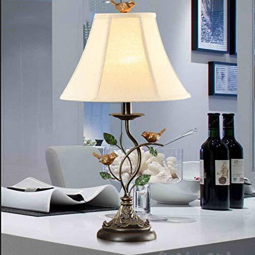 ZHAOHUIFANG Lampe De Table, Lampe De Table à Oiseaux en Fer Forgé Doré Lampe De Table à Poser Lampe De Chevet Créative Rétro,Gold