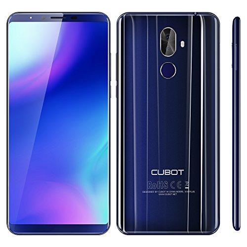 CUBOT X18 Plus Android 8 4G-LTE Smartphone Libero 5.99 FHD Proporzione 18:9 4GB RAM + 64GB ROM Batteria 4000mAh- Blu