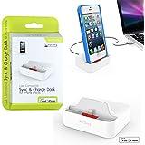 KiDiGi Lightning Lade/Sync Dockingstation Weiss für Apple iPhone 5 / iPod Touch 5G / iPod Nano 7G