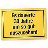 DankeDir! 30 Jahre - Gutes Aussehen, Schild - Geschenk 30. Geburtstag, Geschenkidee Geburtstagsgeschenk Zum Dreißigsten, Geburtstagsdeko/Partydeko/Party Zubehör/Geburtstagskarte