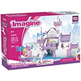 2 Item Bundle: BRICTEK Imagine Swan Castle 361 Pcs Building Blocks Set + FREE Melissa & Doug Scratch Art Mini-Pad Bundle