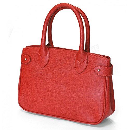 Mini sac à main paris cuir Fabrication Luxe Française Rouge