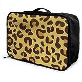 Qurbet Reisetaschen,Reisetasche, Portable Luggage Duffel Bag Leopard Skin Travel Bags Carry-on in...